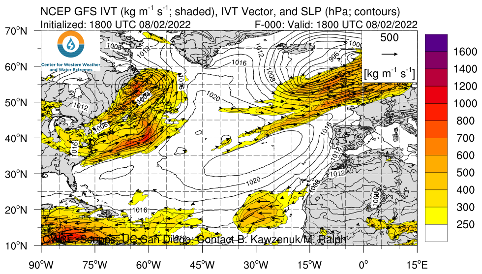 North Atlantic GFS IVT