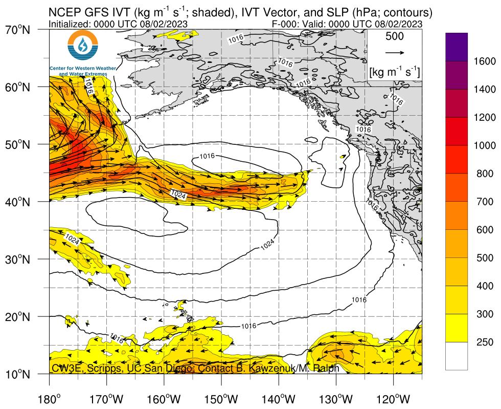 Northeast Pacific GFS IVT
