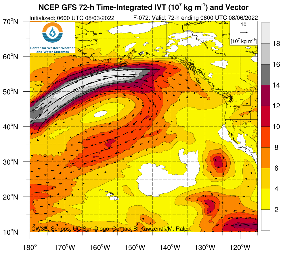 Northeast Pacific GFS TIVT