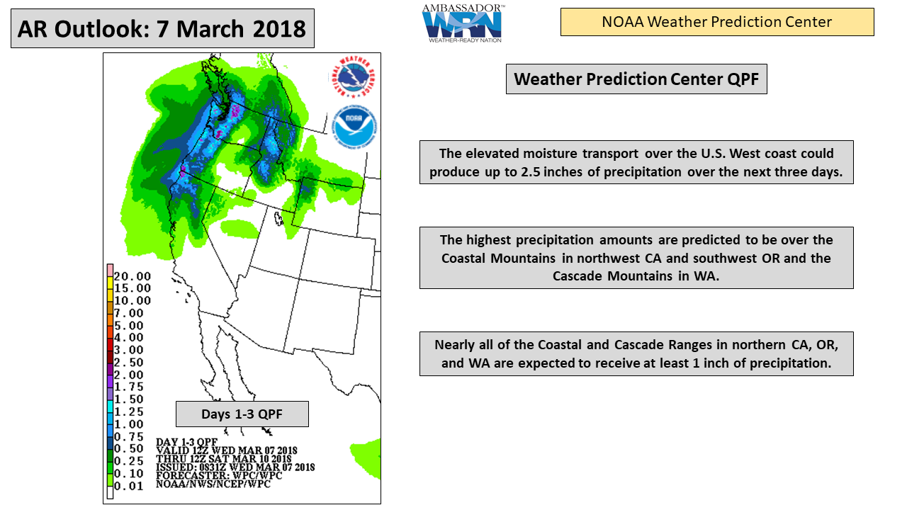 CW3E AR Update: 7 March 2018 Outlook – Center for Western Weather