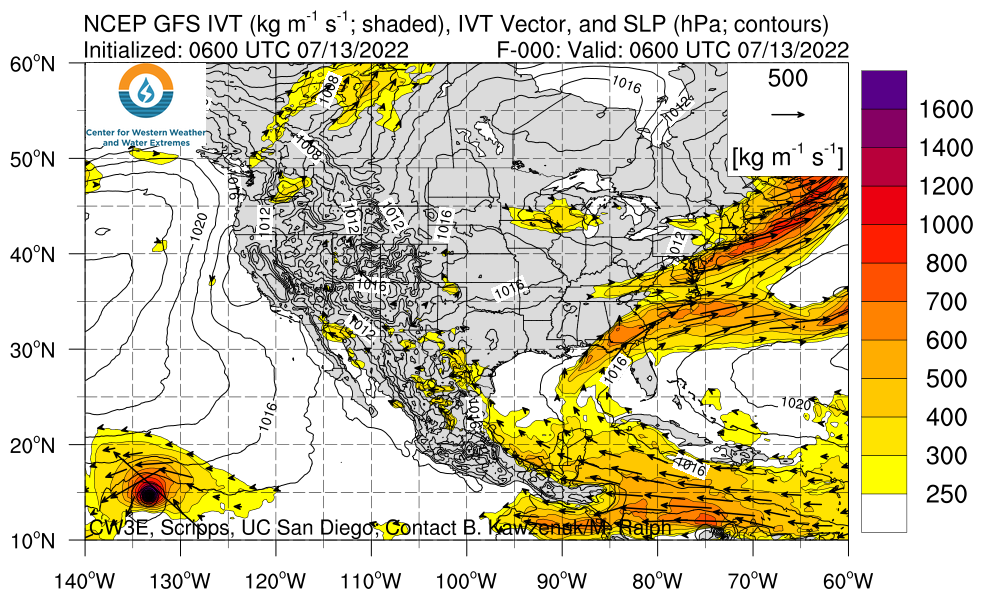 North America GFS IVT