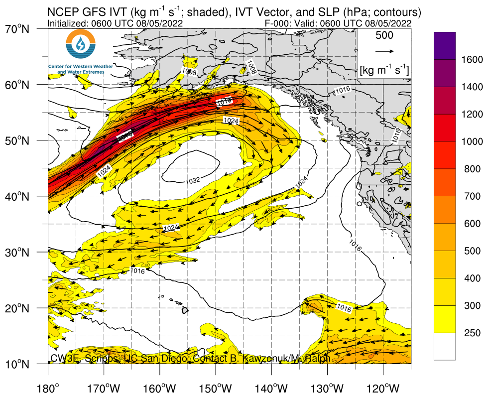 Northeast Pacific GFS IVT