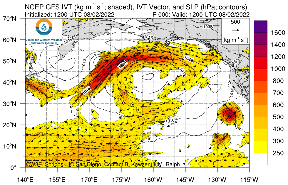 North Pacific GFS IVT