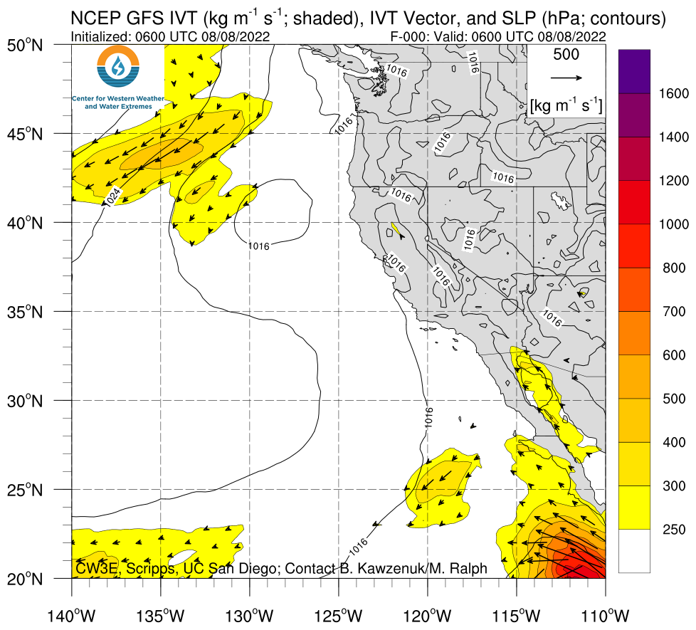 U.S. West Coast GFS IVT