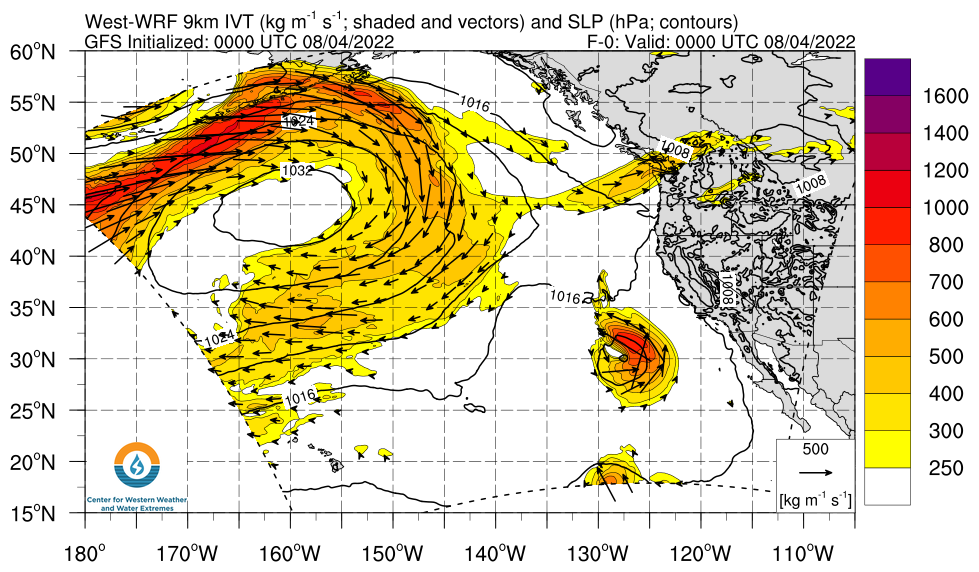 Northeast Pacific WWRF IVT