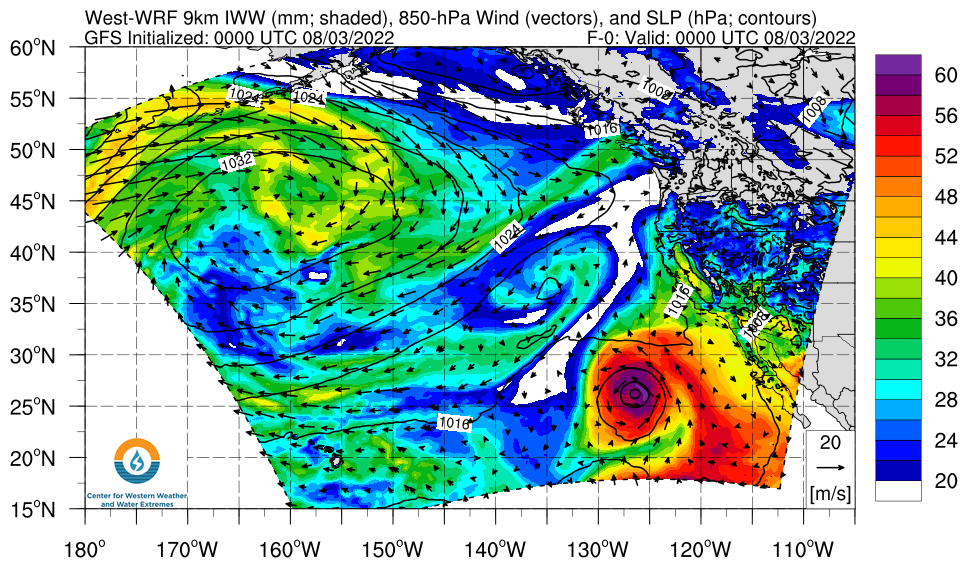 Northeast Pacific WWRF IWV