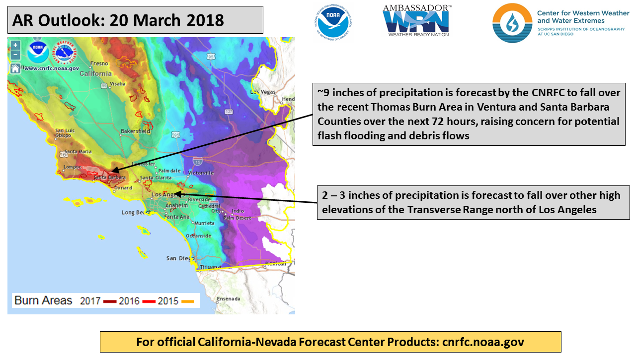 CW3E AR Update: 20 March 2018 Outlook – Center for Western